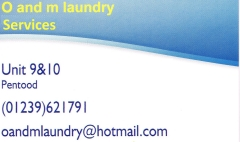 O & M Laundry and dry-cleaning services